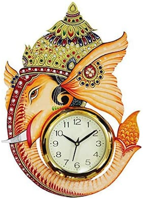 KABIR ART Wood Analog Wall clock ( Set of 1 )