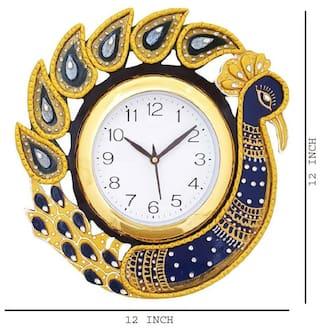 KABIR ART PEACOCK WALL CLOCK