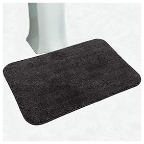 Kachvi Solid Gray Microfiber Bath Mat60x40CM