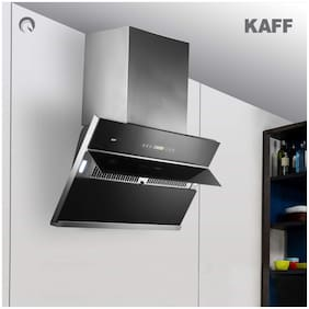 Kaff Wall Mounted Auto Clean 60 cm 1250 m3/h Black Chimney