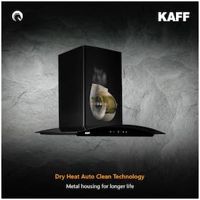 Kaff Wall Mounted Auto Clean 60 cm 1150 m3/h Black Chimney ( LIZ BF DHC 60 )