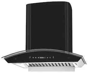 Kaff Wall Mounted Auto Clean 60 cm 1250 m3/h Black Chimney ( RIOBF DHC 60 Black )