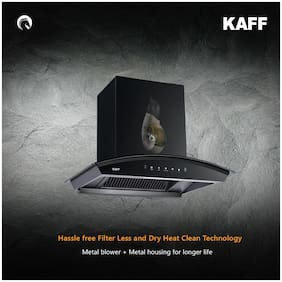 Kaff Wall Mounted 60 cm 1250 m3/h Black Chimney ( Vasco dhc 60 )