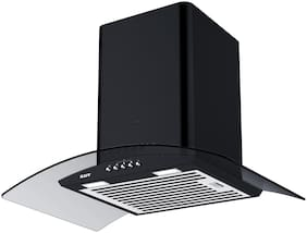 Kaff Wall Mounted Auto Clean 60 cm 1150 m3/h Black Chimney ( ELF DHC 60 & Black )