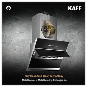 Kaff Wall Mounted Auto Clean 90 cm 1250 m3/h Black Chimney ( NOBELO TX DHC 90 )
