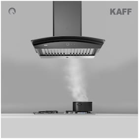 Kaff Wall Mounted Auto Clean 60 cm 1250 m3/h Black Chimney ( SIGMA DHC 60 )