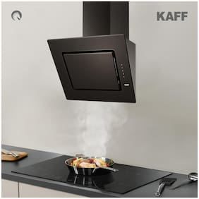 Kaff Wall and Ceiling Mounted Auto Clean 60 cm 1180 m3/h Black Chimney ( ZEPA GX DHC 60 )