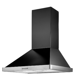 Kaff Wall Mounted 60 cm 1080 m3/h Black Chimney ( Nero MX 60 )