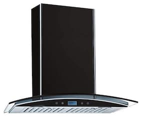 Kaff Wall Mounted Auto Clean 60 cm 1180 m3/h Black Chimney ( OPECDHC-60 -Black )