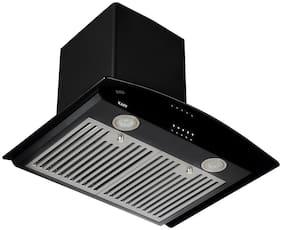 Kaff 60 cm 1150 m3/h Push button control Stainless steel Chimney - 240 w , Black ,