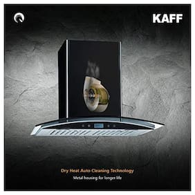 Kaff Wall Mounted Auto Clean 90 cm 1180 m3/h Black Chimney ( OPEC TX DHC 90 )