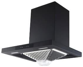 Kaff 60 cm 1180 m3/h Stainless steel Chimney - 220 watts , Black , EDEN DHC 60