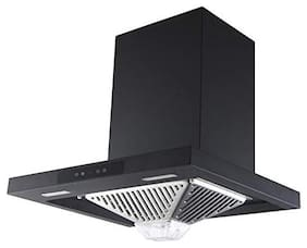 Kaff Wall Mounted Auto Clean 60 cm 1150 m3/h Black Chimney ( EDEN DHC 60 )