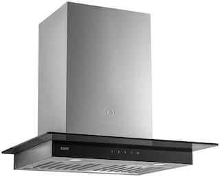 Kaff Wall Mounted Auto Clean 60 cm 1180 m3/h Grey Chimney ( Astra Tx dhc 60 )