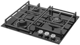 Kaff NVH603 3 Burner Hobs Black Gas Stove , ISI Certified