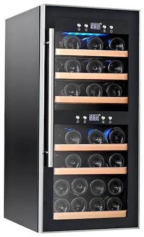 Kaff Stainless Steel 26 -Bottle Free Standing Wine Cooler;Glassdoor;KWC - 24