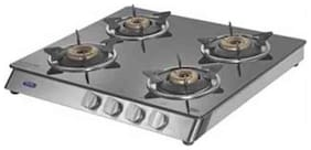Kaff 4 Burners Stainless Steel Gas Stove - Grey , Auto Ignition