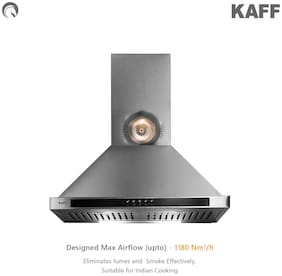 Kaff Wall and Ceiling Mounted 60 cm 1180 m3/h Silver Chimney ( FEMA BF 60 SS )