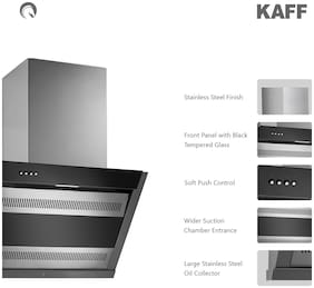 Kaff Wall and Ceiling Mounted 60 cm 1150 m3/h Silver Chimney ( FORMA DX 60 )