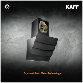 Kaff Wall Mounted Auto Clean 60 cm 1180 m3/h Black Chimney ( BEVERLY DHC -60 )