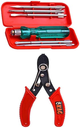 Kag Hand Tools Kit( Screw Driver Set And  Wire Cutter)