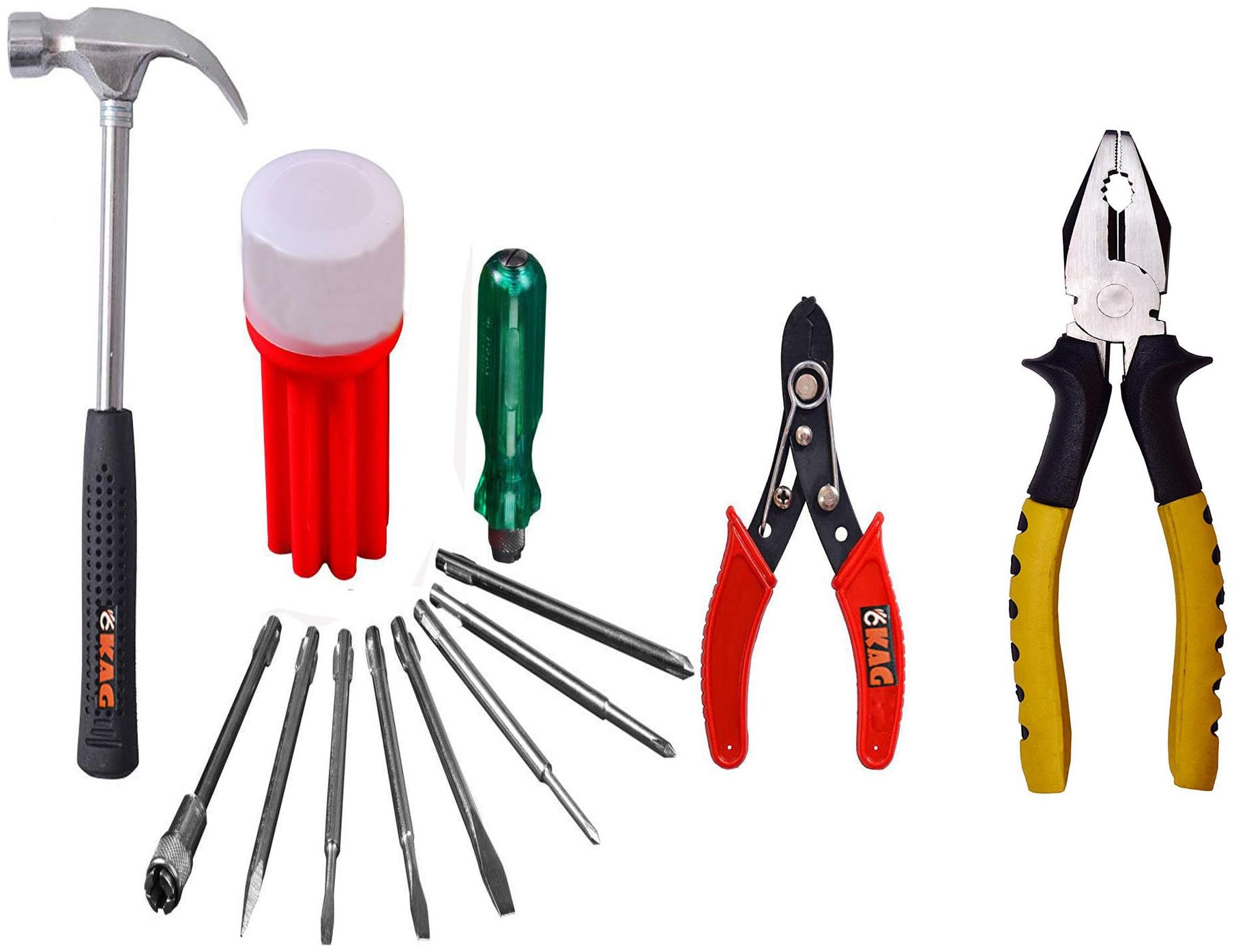 Kag R815 Home Hand Tool Kit(1 pc Of Plier;Screw Driver Kit;Wire Cutter...