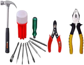 Kag R815 Home Hand Tool Kit(1 pc Of Plier;Screw Driver Kit;Wire Cutter And Claw Hammer)