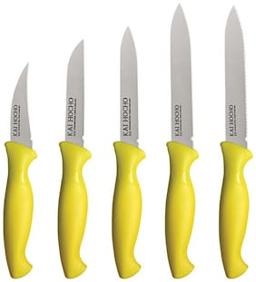 Kai Hocho Stainless Steel Knife Set  (Yellow)