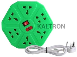 kaltron VE108 Multi Pin Assorted Extension Board ( 3 m , 8 Socket , 1 Switches)