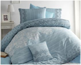 Kamar Home's Cotton Floral Single Size Bedding Set