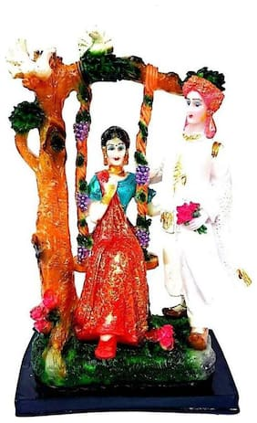 Kanhaclues Jhula Wedding Couple New Couple Statue Gifted Statue Specially Valentine ( Washable Statue )