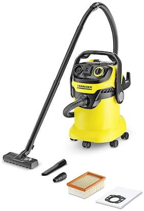 KARCHER WD 5 1100-WATT Wet & Dry Cleaner ( Black & Yellow )