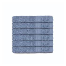 kawach 512 GSM Bamboo Face Towel ( Pack of 6 , Grey )