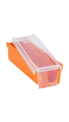 Kawachi Butter keeper and Slicer Cutter Storage Container Dishwasher Safe Measure for Bread, Cakes, Cookies, Cookware Butter Dish