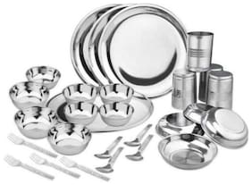 KC Stainless steel Dinner Sets - Set of 28 , Silver