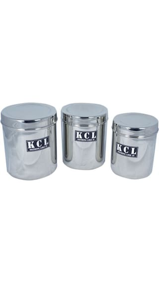 a5a4734559c Buy Kcl 1000 Ml Stainless Steel Food Container Set Of 3 Online at ...