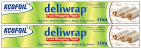Kcofoil Deliwrap Food Wrapping Butter Parchment Paper 10 m (Set of 2)