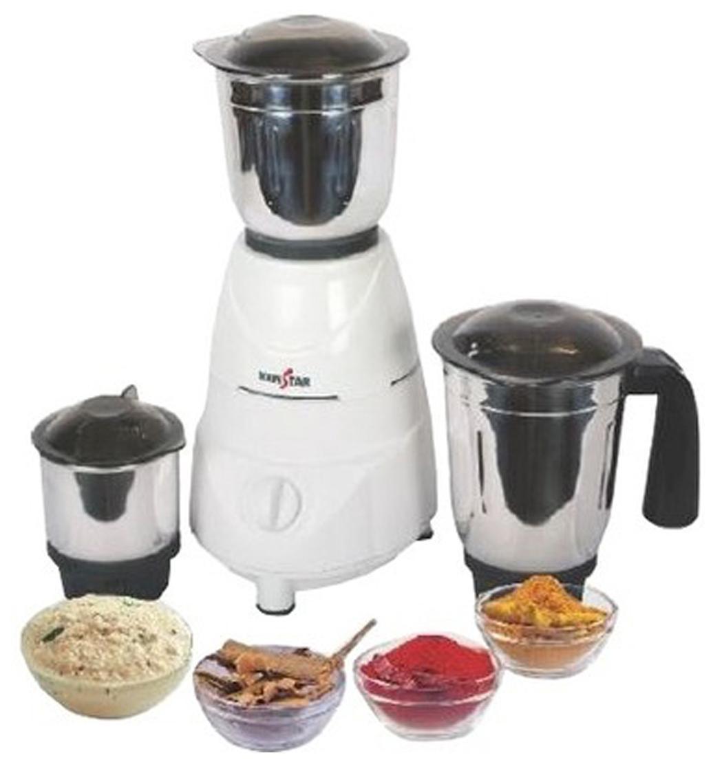 Kenstar KMU50W3S 500 W Mixer Grinder (White/3 Jar)