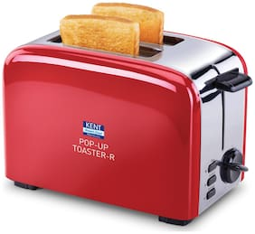 Kent 16030 2 Slices Pop-Up Toaster - Red