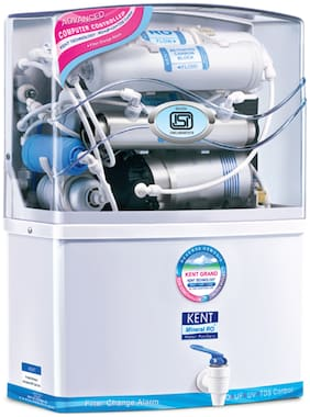 KENT Grand 8-Litres Wall-Mountable RO + UV/UF + TDS Water Purifier (White)