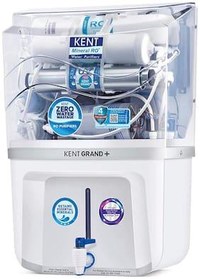 Kent Grand Plus ZWW Water Purifier 9L Purification Tech: RO+UV+UF+TDS (White)