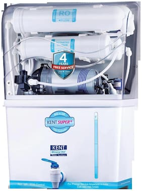 Kent Super Plus 8 ltr RO+UF Water Purifier (White)