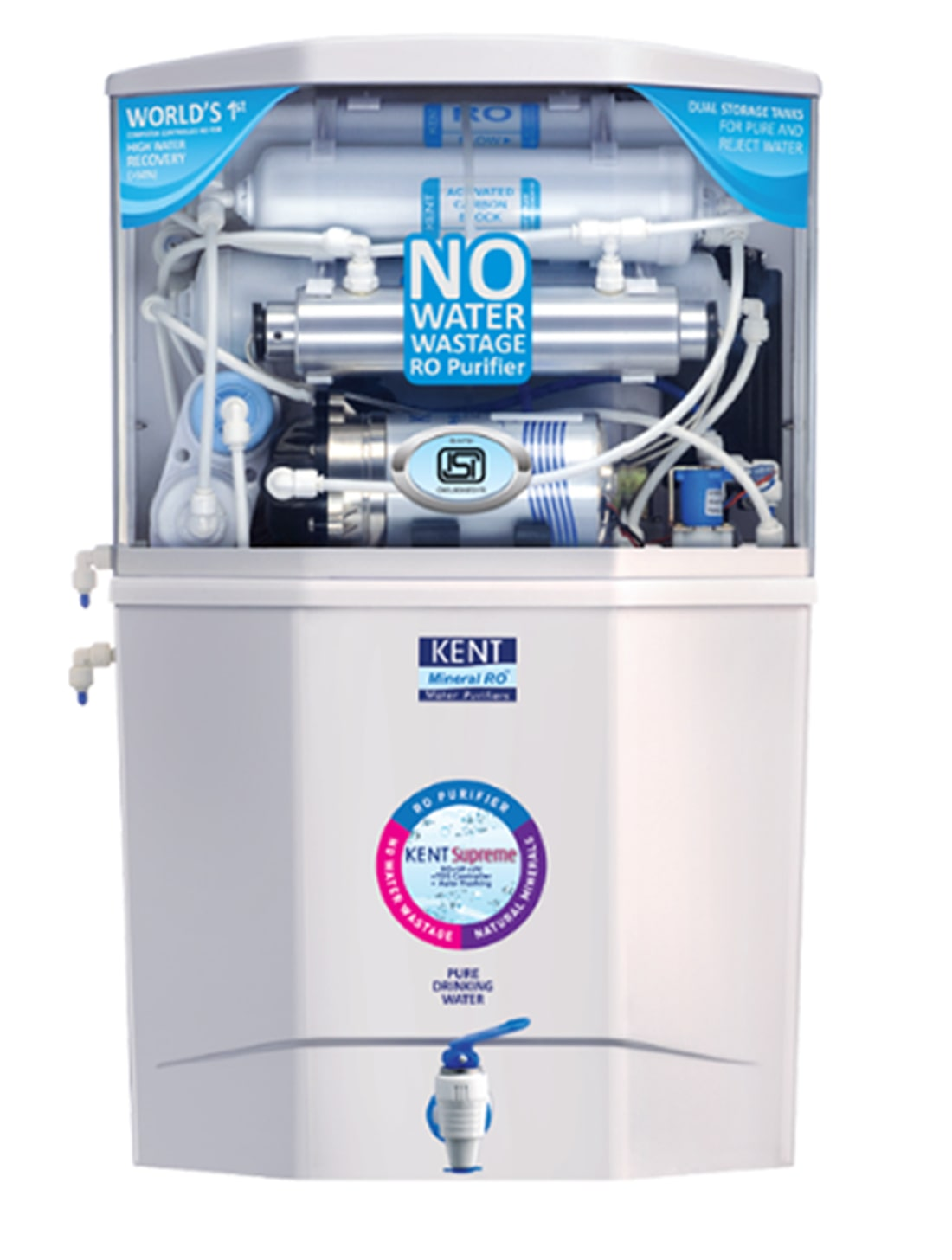 Kent Supreme 9+9 Litres Dual Storage RO + UV + UF Electric Water Purifier