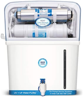 Kent Ultra Storage  7 ltr UV+UF Water Purifier (White)