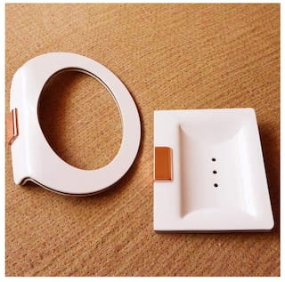 Kenzo Designer Wall Mounted Acrylic Soap Holder Dish With Napking Hanger Ring For Shower;Bathroom;Kitchen N Wash Besin Area
