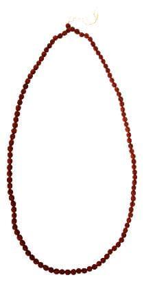 Kesar Zems Wooden 108-Bead Rudraksh Mala (15 cm x 50 cm x 1 cm;Brown)