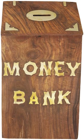 Kesha Spree Money Bank Hut Style Kids Piggy Coin Box Gifts Handmade 10 x 6 inch Kids Gift with Lock- Export Quality