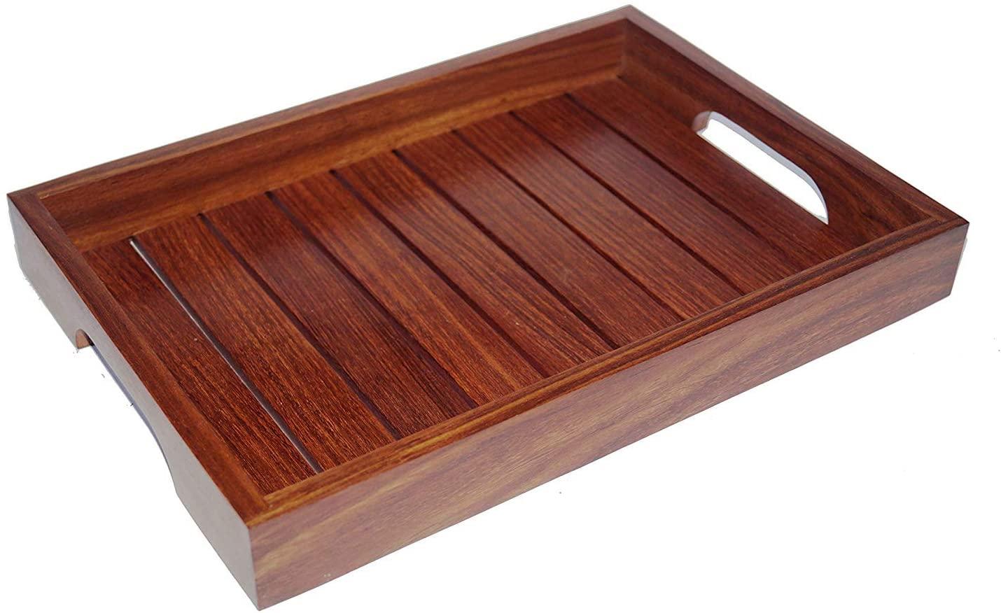 Kesha Spree Indian Rosewood Sheesham Wood Handmade & Handcrafted Wooden Serving Tray...