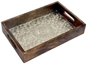 Kesha Spree Wooden Tray For Serving Tea |Coffee Tray Wooden |Bed Tray |Wooden Serving Tray For Snacks |Wood Tray For Decoration;Table Decor;Ottoman |Breakfast Tray Large |Ottoman Tray Medium 12X8