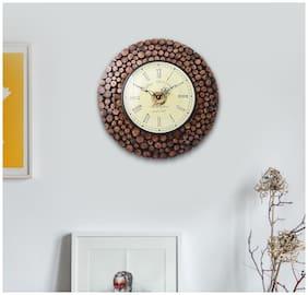 KESHA SPREE Wood Analog Wall clock ( Set of 1 )